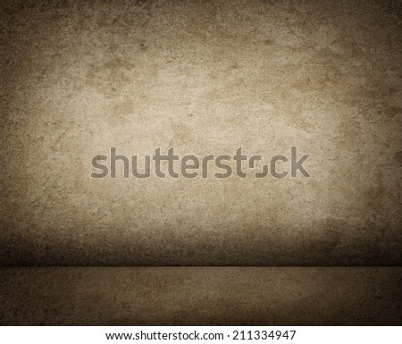 Texture of grunge interior, old dirty wall. - stock photo