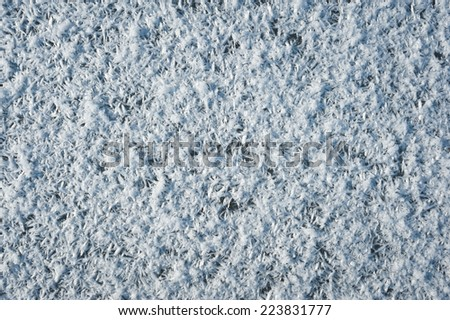 texture of ice covered hoarfrost - stock photo