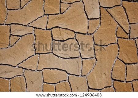 Texture of irregular concrete pavement - stock photo