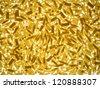 texture of italian pasta on white background - stock photo
