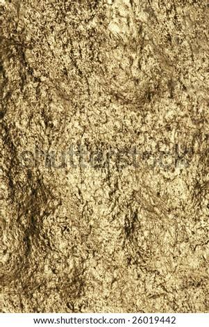 Texture of Kyaiktiyo Boulder Stupa (Golden Rock), Mon State, Myanmar (Burma). - stock photo
