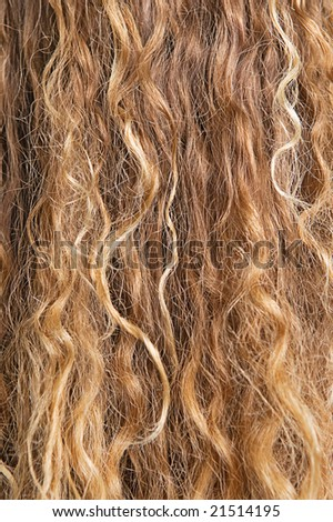 texture of long blond hair - stock photo
