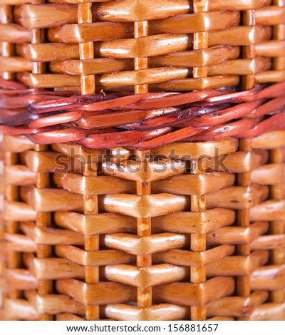 texture of manual weaving of a rod - stock photo