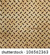 Texture of Metal Plate and Rust Grunge Textured - stock photo