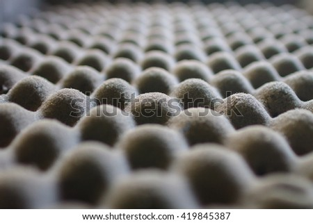 "Texture of microfiber insulation for noise in music studio or acoustic halls or houses,blur ""Fonoassorbenti"" - stock photo"
