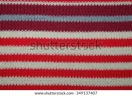 Texture of multicolored woolen fabric - stock photo