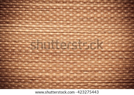 Texture of native thai style weave sedge mat background  - stock photo