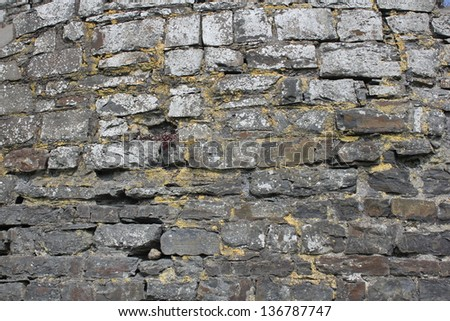 Texture of old brick wall for background - stock photo