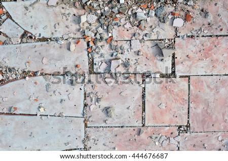 Texture of Old Broken Damaged Glaze Dalle - stock photo