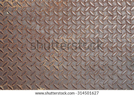 Texture of old corrugated metal - stock photo