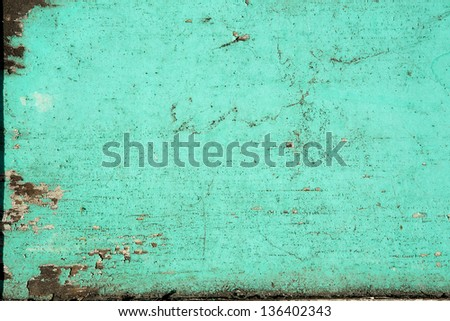 Texture of Old Grunge Wood Panel - stock photo