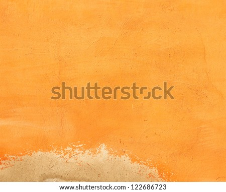 Texture of old plaster wall - stock photo