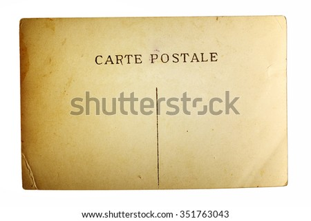 texture of old postal card - stock photo