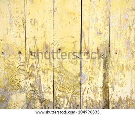 Texture of old scratched wooden a plank - stock photo