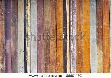 Texture of Old wood floor  - stock photo