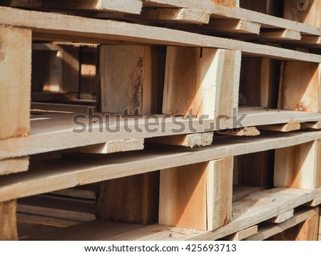 Texture of pallet wood. - stock photo
