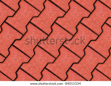 texture of paving slabs shaped terracotta - stock photo