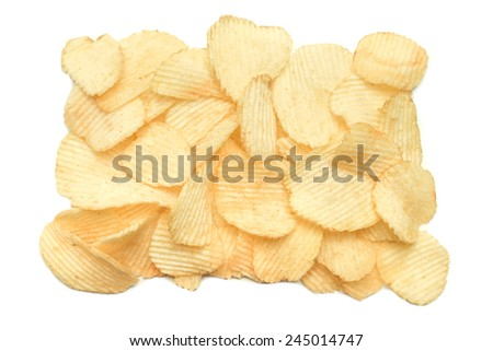 Texture of potato chips close-up. - stock photo