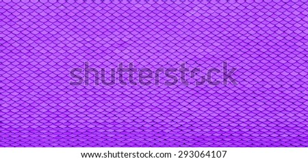 Texture of purple scale roof - stock photo