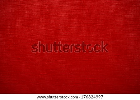 texture of red canvas - stock photo