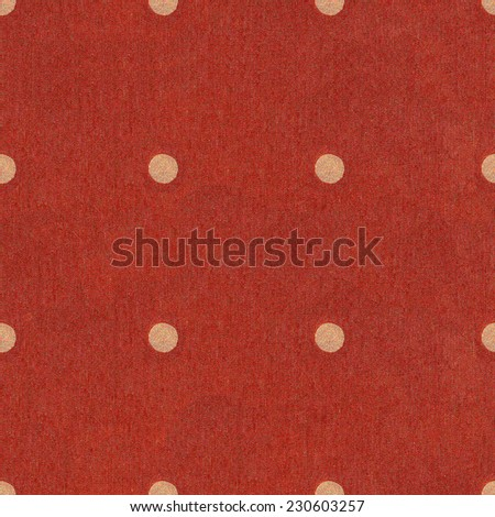 Texture of red jeans background. Seamless Polka dot background dark red pattern with circles / Polka Dots on Navy red Textured Fabric Background that is seamless and repeats.  - stock photo