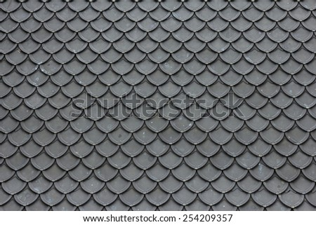 Texture of roof in pattern design - stock photo