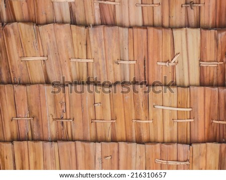 Texture of roof made from nipa palm - stock photo
