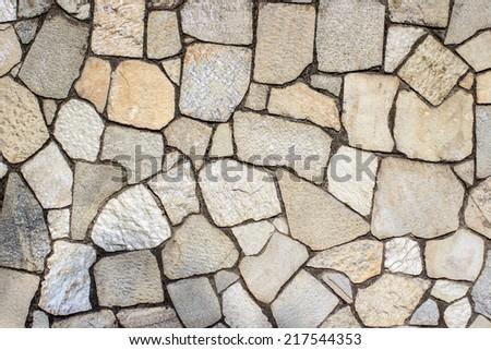 Texture of rough stone tiles - stock photo