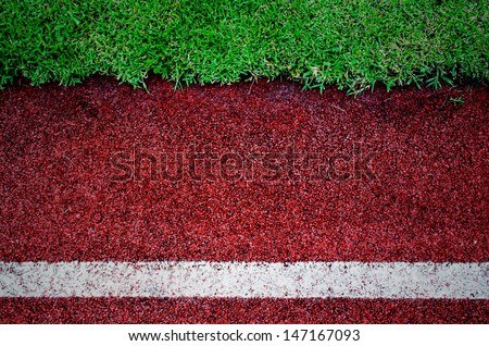 texture of running track cover with rubber - stock photo