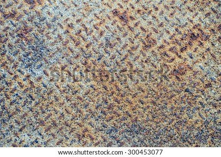 Texture of rustic metal plate - stock photo