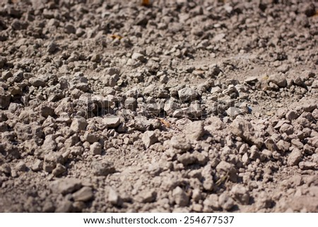 Texture of soil wall and raw soil for pottery artist of Chiang Rai Thailand - stock photo