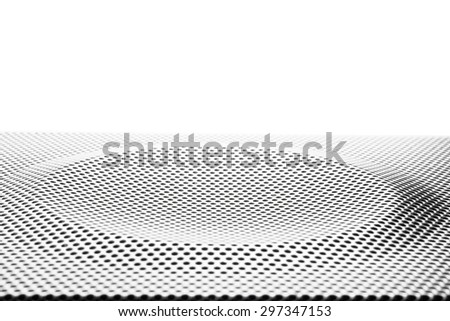 texture of speaker with press punching circle curve from machine - stock photo