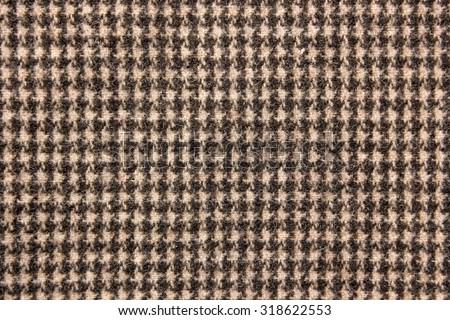 Texture of tartan design cloth. - stock photo