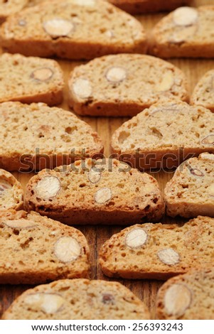 texture of the cookie. Close up - stock photo