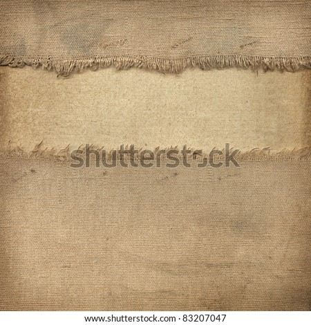 Texture of the old fabric and paper - stock photo