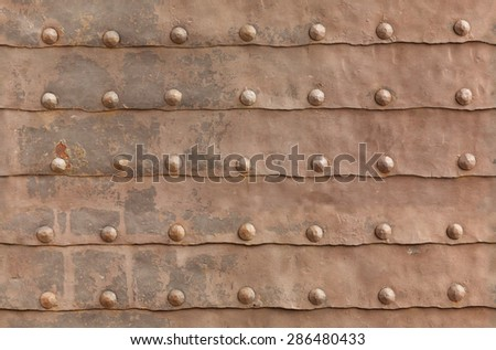 texture of the old iron gate - stock photo