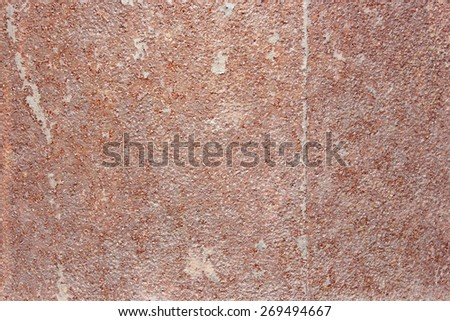 texture of the old rusty metal with a crack of brown - stock photo