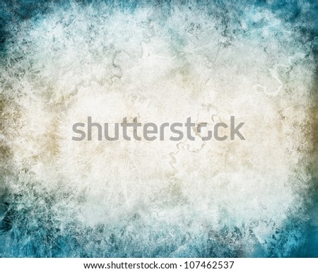texture of the old walls, blue - stock photo