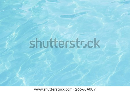 Texture of the water in the pool - stock photo