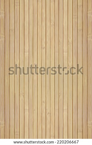 Texture of the wooden slats of bamboo - stock photo