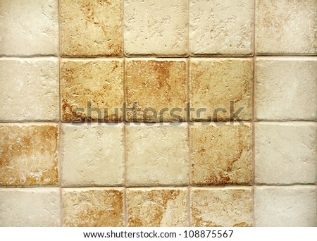 Texture of tiles brown color - stock photo