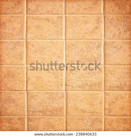 Texture of tiles brown color,Beige and brown floor tiles - stock photo