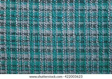 Texture of turquoise tartan fabric useful as a background - stock photo