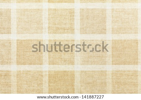 texture of vintage checkered tablecloth - stock photo