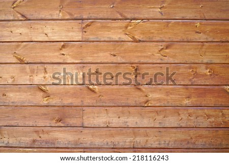 Texture of wall of unpainted boards - stock photo