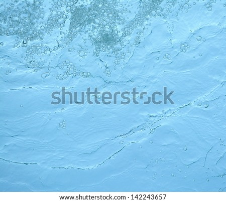 texture of water from beneath - stock photo