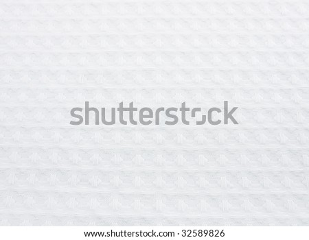 Texture of white cotton fabric as abstract background - stock photo
