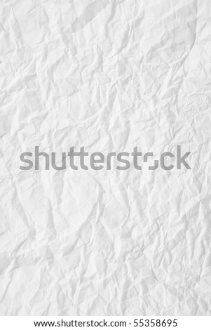 texture of white crumpled paper, used for background - stock photo