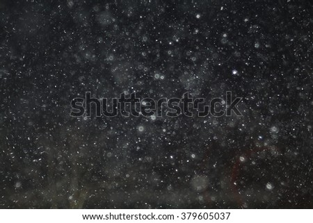 texture of white mist on a black background to overlay - stock photo