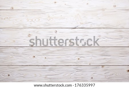 Texture of white old wooden background. - stock photo